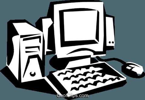 computer Royalty Free Vector Clip Art illustration.