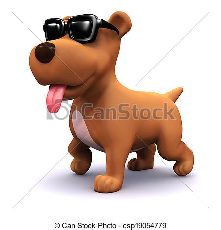 3d Cool dog.