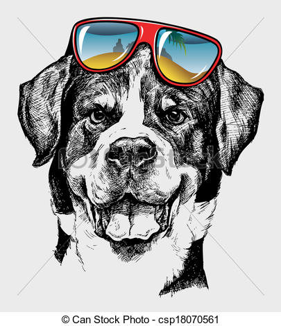 Cool Dog Artistic Drawing.