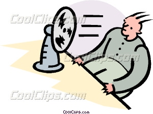 cooling down Vector Clip art.