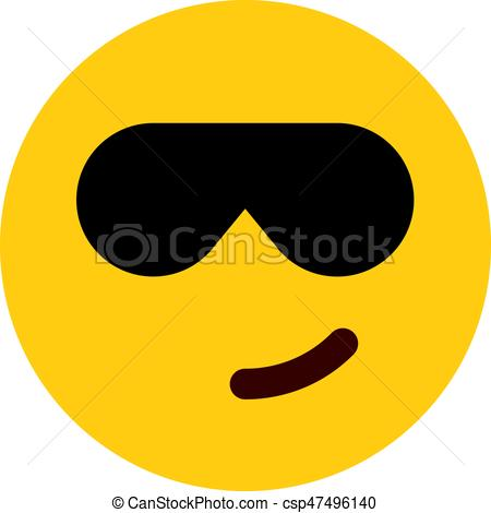 cool emoji with sunglasses.