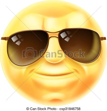 Sunglasses Cool Emoji Emoticon.