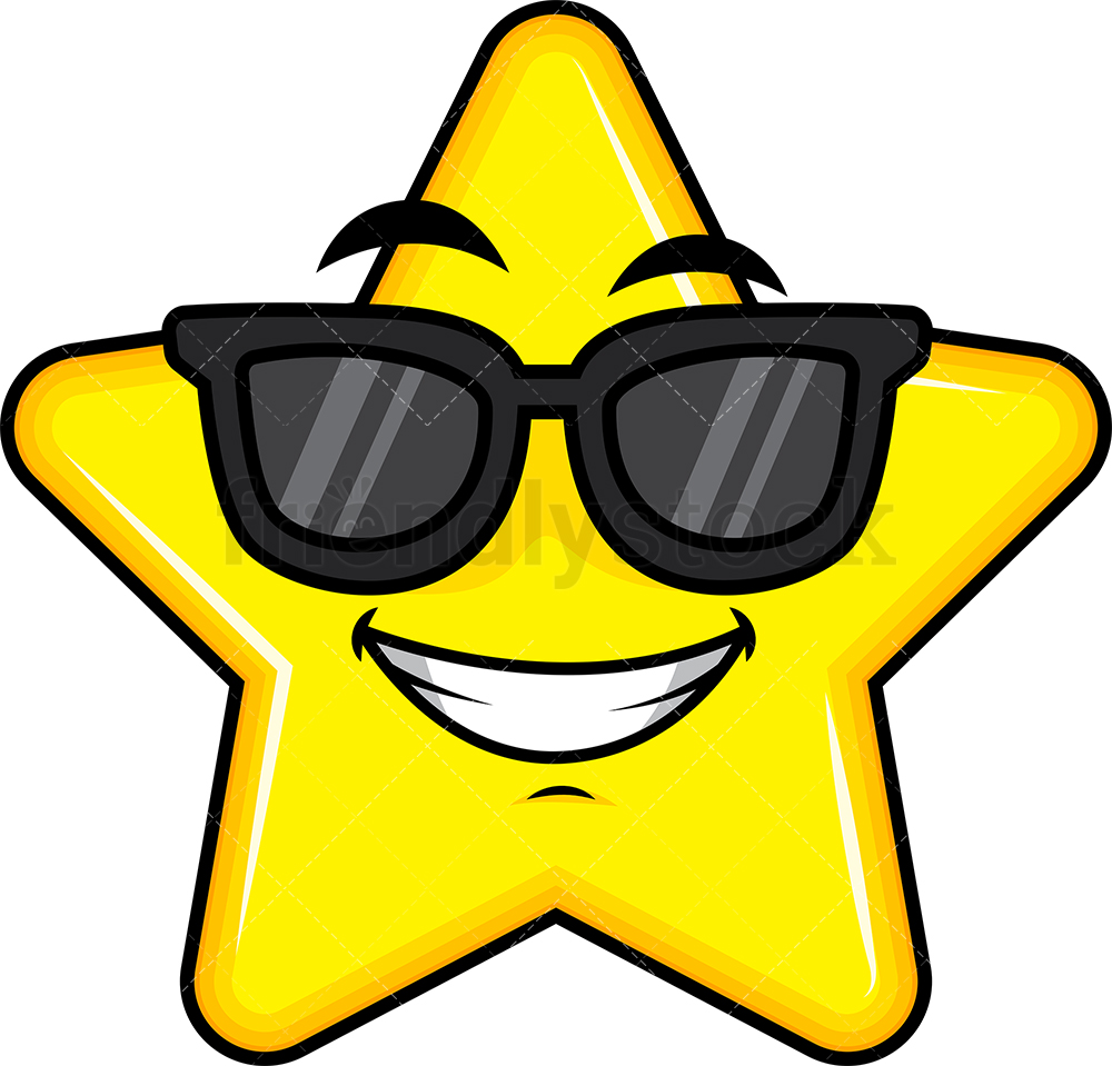 Cool Star Wearing Sunglasses Emoji.