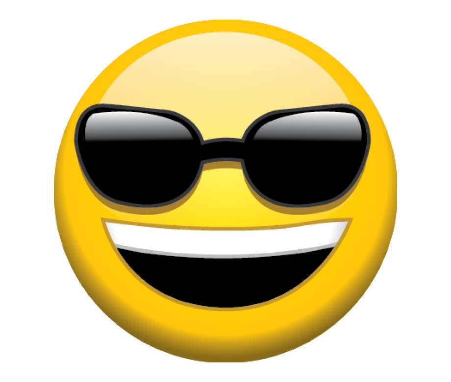 Sunglasses Emoji Transparent Background.