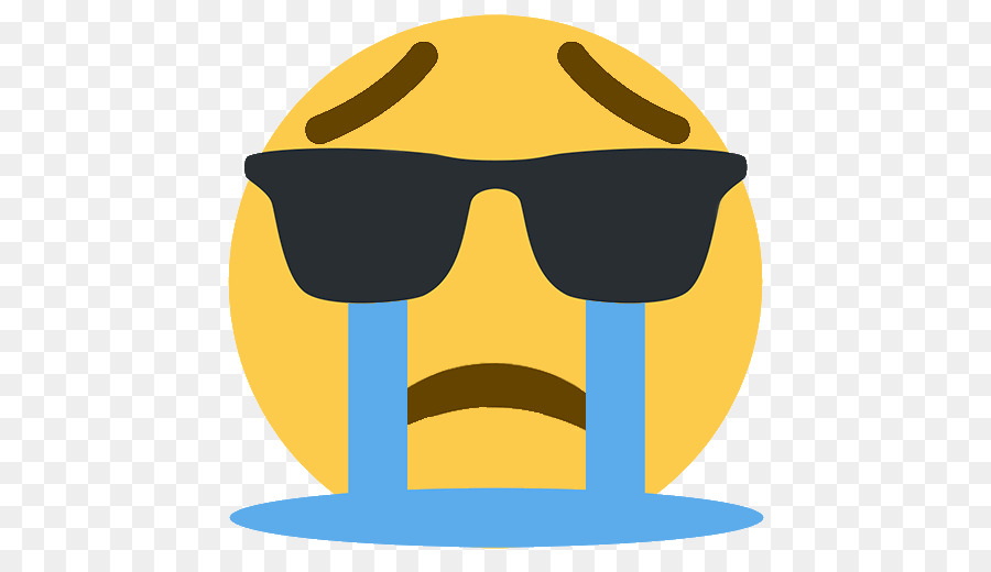 Crying Sunglasses Emoji png download.