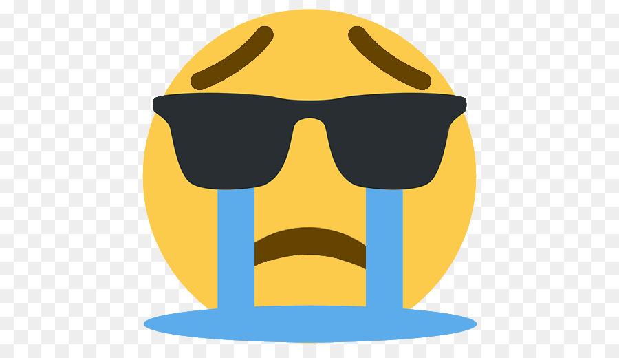 Crying Sunglasses Emoji png download.