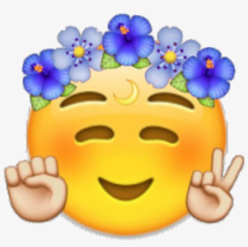 Emoji Emojis Cool Flowercrown Crown.