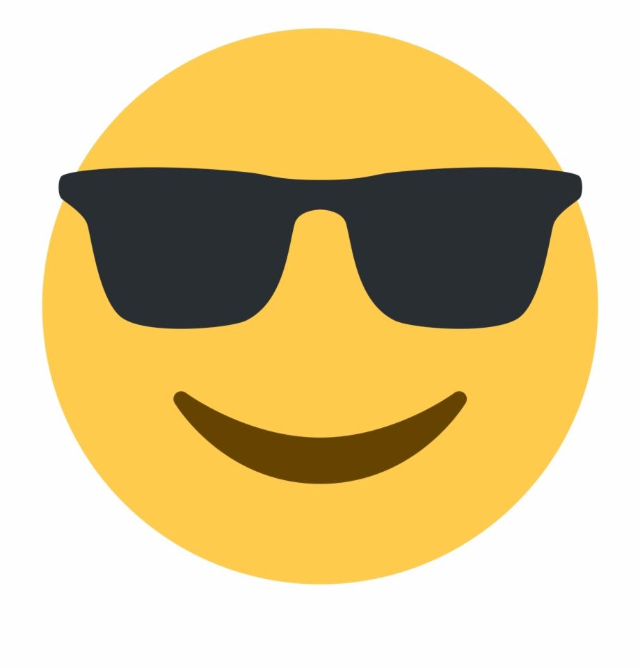 Sunglasses Emoji Png Transparent Background.