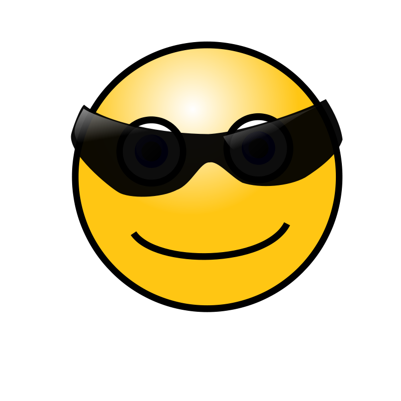 Free Clipart: Emoticons: Cool face.