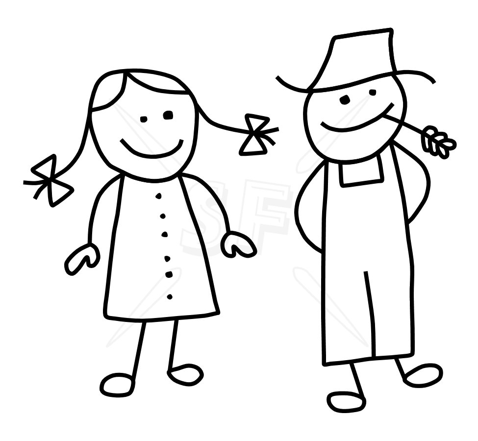 Variety of Stick People Clip Art.