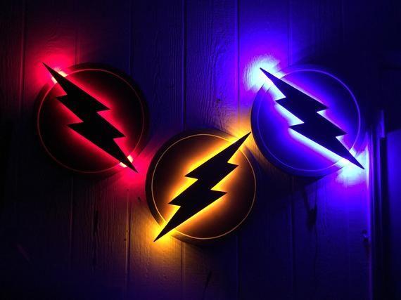 Justice League The Flash LED Illuminated Superhero Logo.