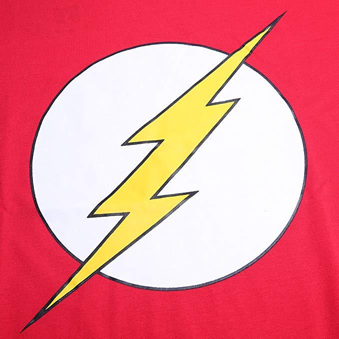 Justice League Flash Logo Lightning Sign Red Cool Men\'s T Shirt.