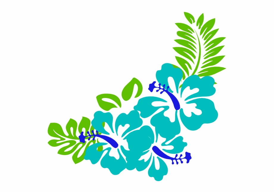 Vector Royalty Free Clipart Hawaiian Flowers.