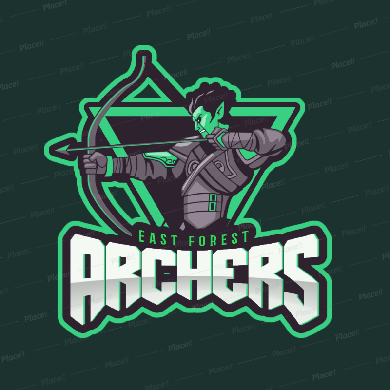 Gaming Logo Maker Featuring a Cool Archer Clipart 1741a.
