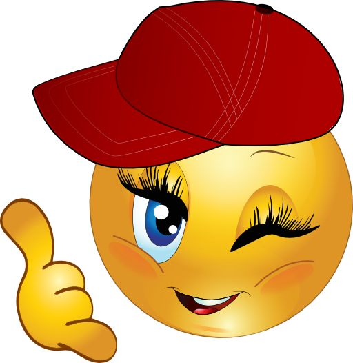 Cool Girl Call Me Smiley Emoticon Clipart I2Clipart.