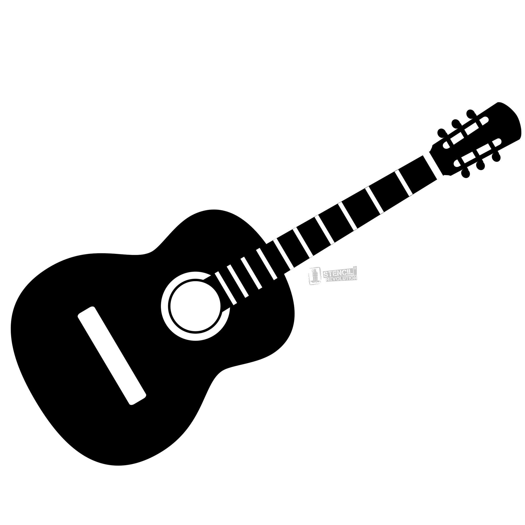 guitar stencil.
