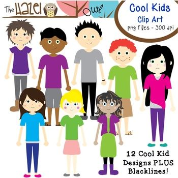 Cool Kids Set: Clip Art Graphics for Teachers.