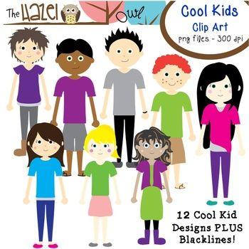 Cool Kids Set: Clip Art Graphics for Teachers.
