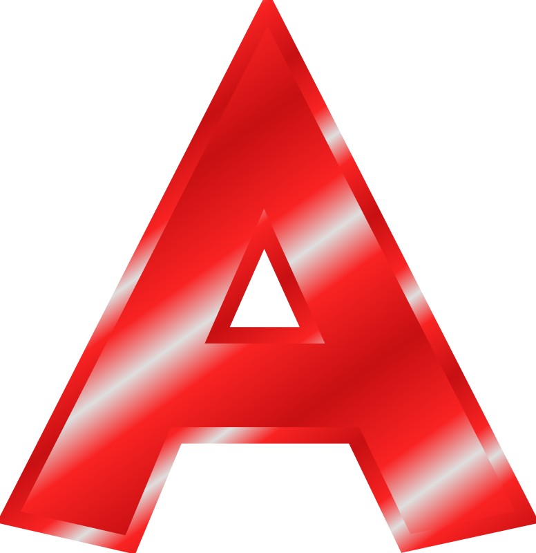 cool letter a clipart