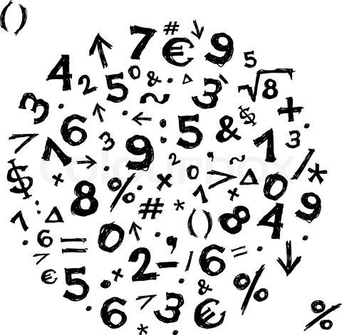 Cool display of numbers and symbols..