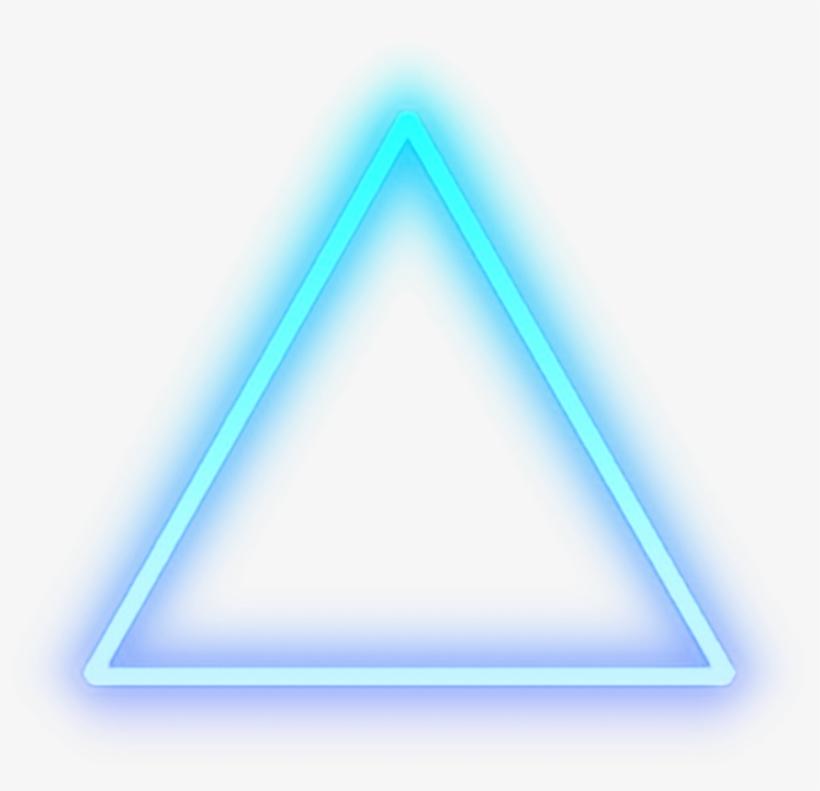 Triangle Blue Glow Light Shape Cool.