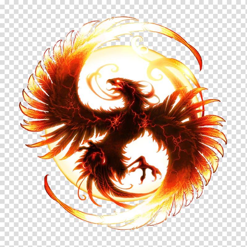 Phoenix Desktop , cool flame transparent background PNG clipart.