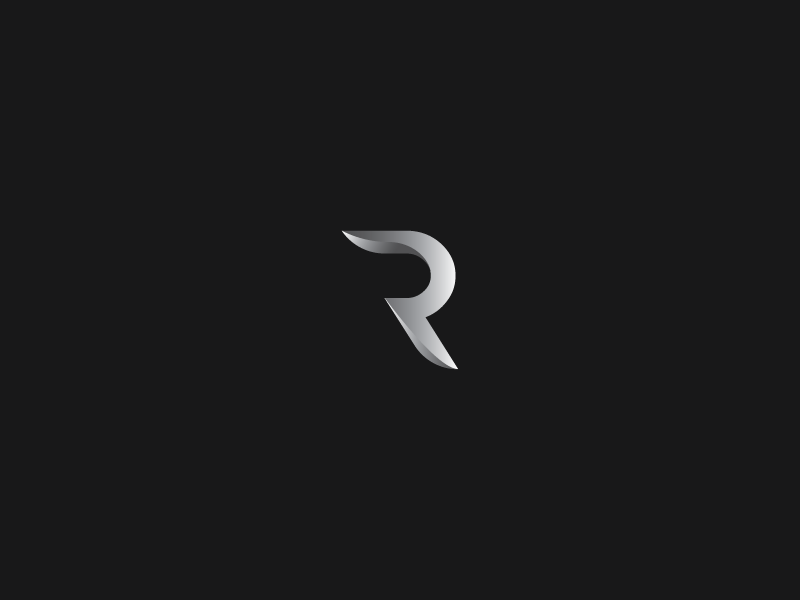 Abstract letter R logo.