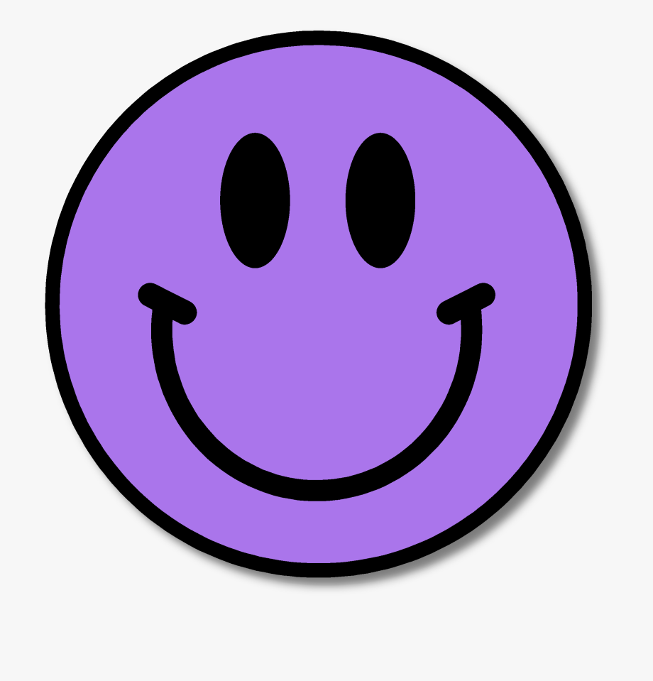 Purple Happy Face Clipart.