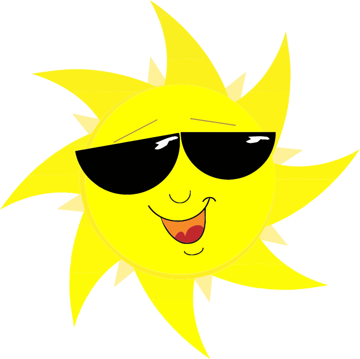 Free Cool Cartoon Sun Clip Art.