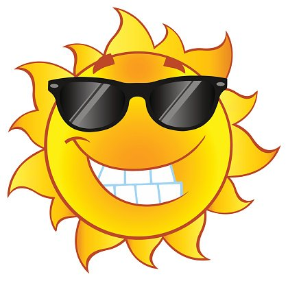Cool Cartoon Sun Mascot With Gradient premium clipart.