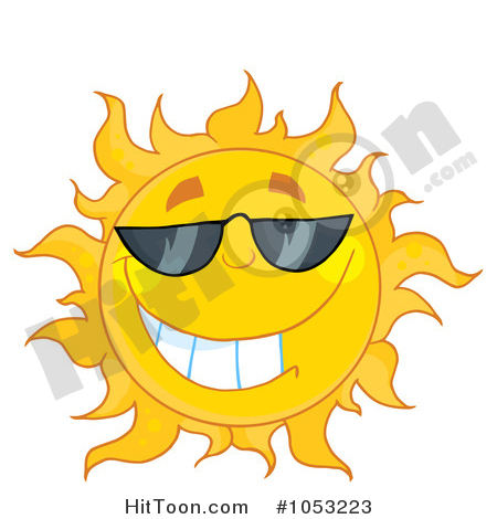 Sun Clipart #1053223: Cool Sun Wearing Shades by Hit Toon.