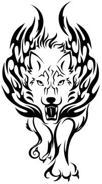 Tribal Lion Tattoo.