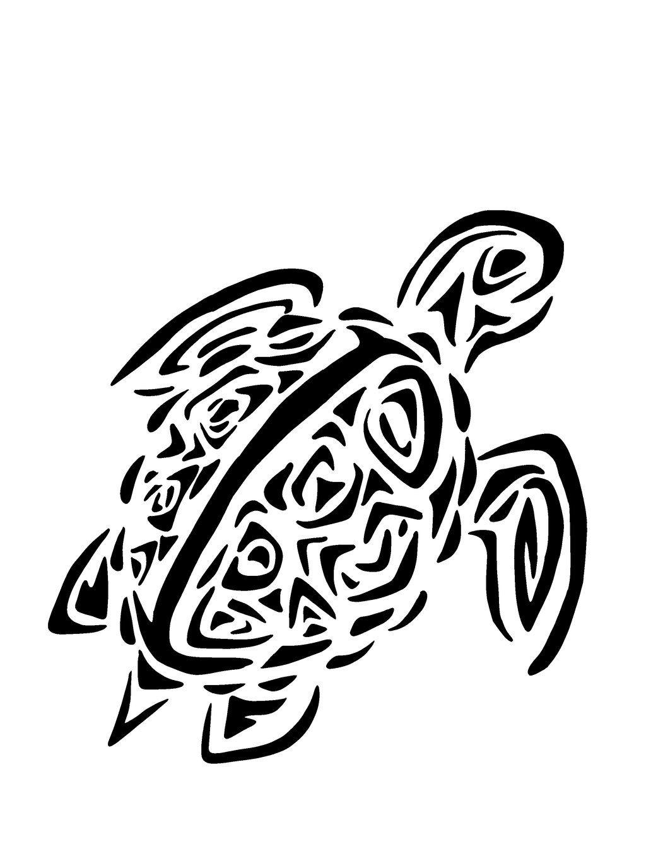 Hawaiian Turtle Tattoos Designs.