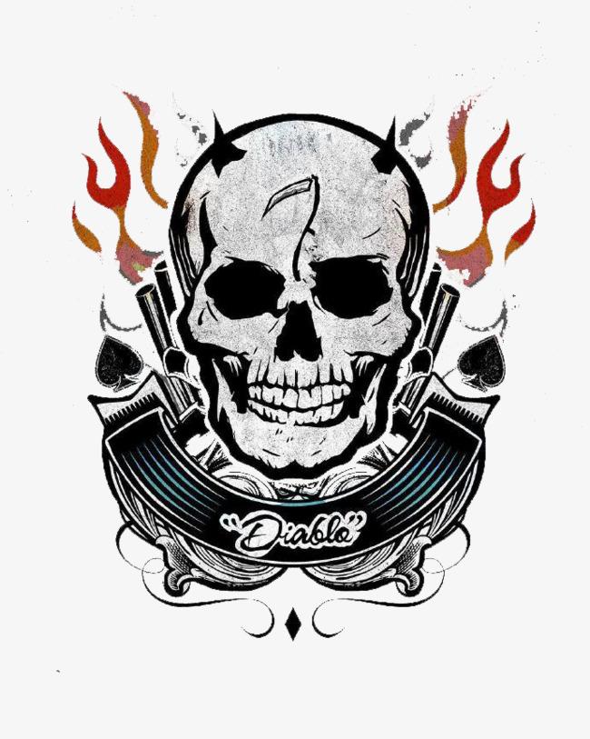 Skull Tattoo, Tattoo R #15558.