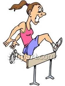 Girl Athlete Clipart.