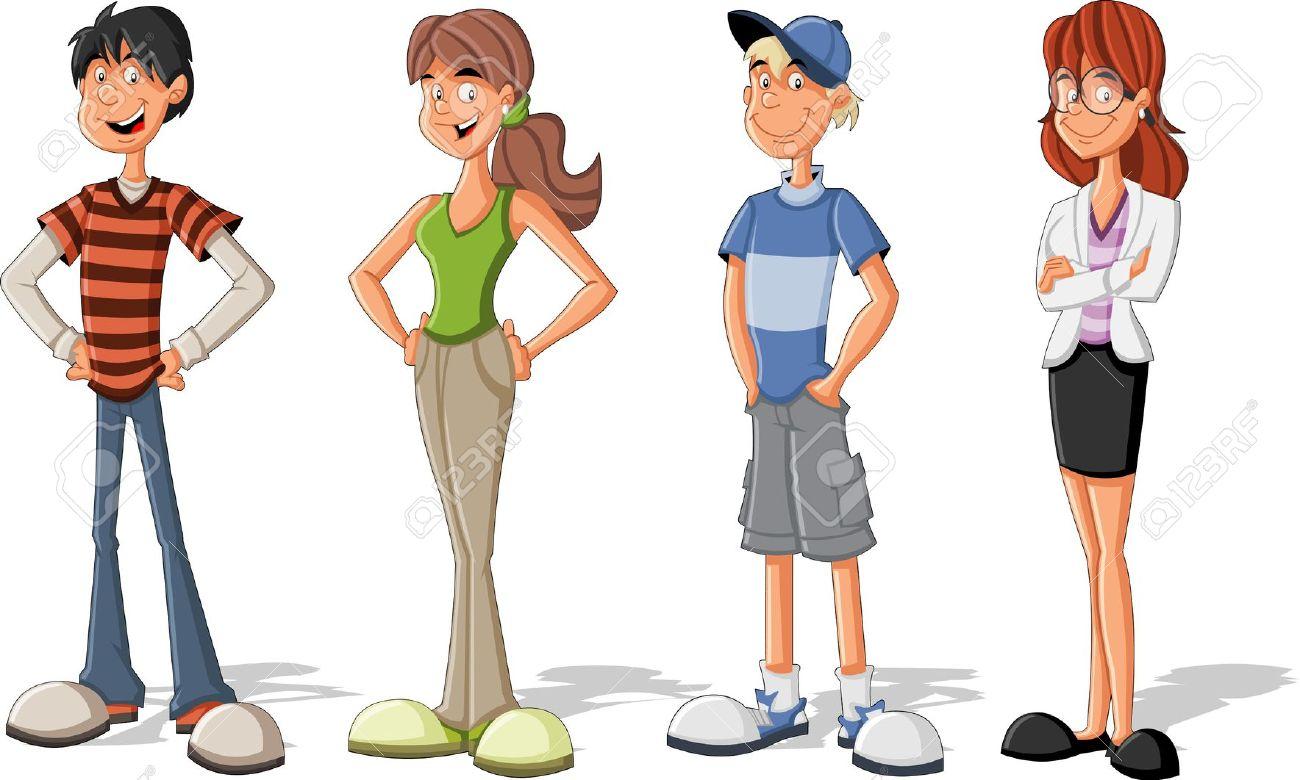 Cartoon Teenager