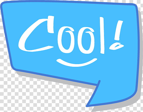 Cool text transparent background PNG clipart.