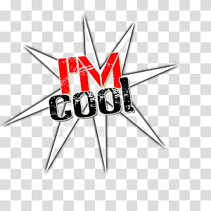 I m Cool , I'm cool text transparent background PNG clipart.
