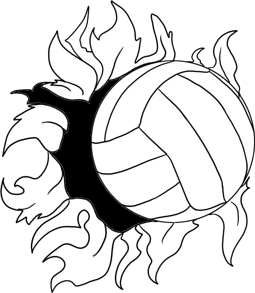 Cool volleyball clipart.