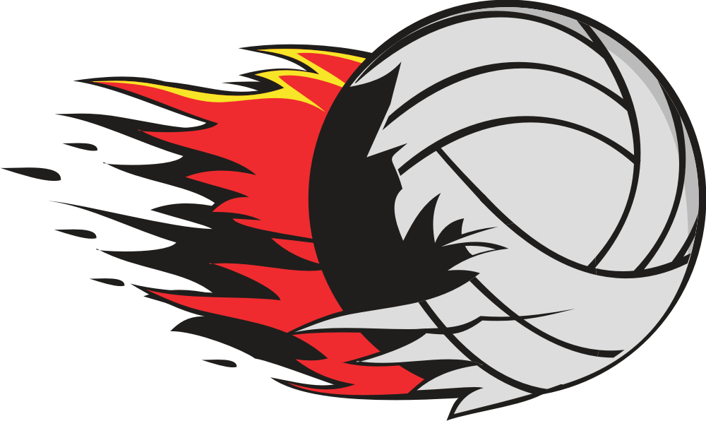 Flaming volleyball clipart free images.