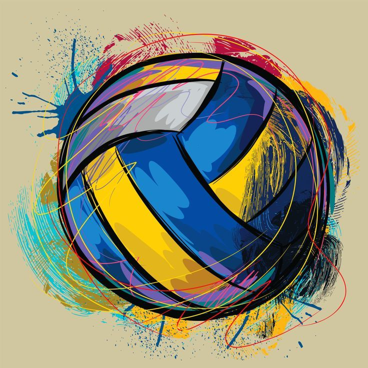 cool colored volleyball images.