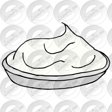 Whipped Cream Picture for Classroom / Therapy Use.