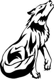 Image result for wolves clipart black and white.