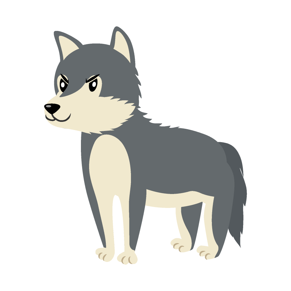 Free Cool Wolf Clipart Image|Illustoon.