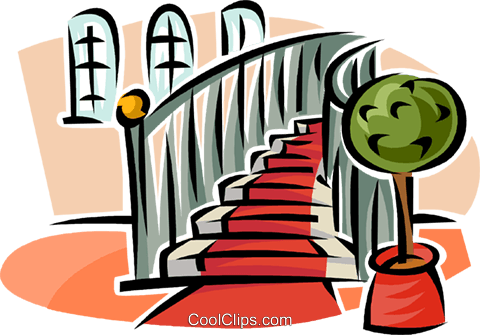 stairs Royalty Free Vector Clip Art illustration.