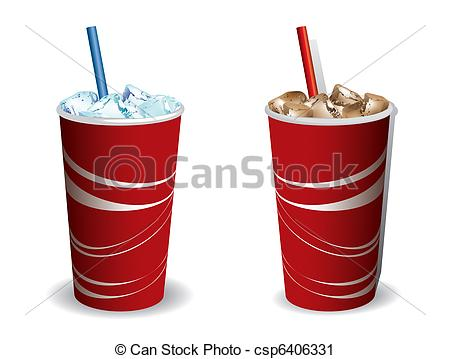 Vector Clip Art of Drink cooled with ice csp6406331.
