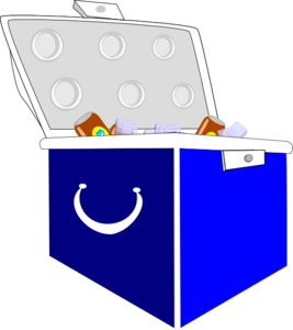 Ice In Cooler Clipart.