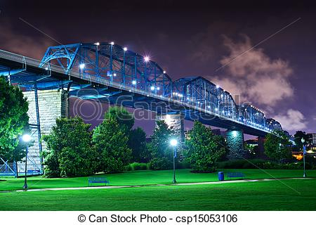 Stock Photography of Coolidge Park in Chattanooga.