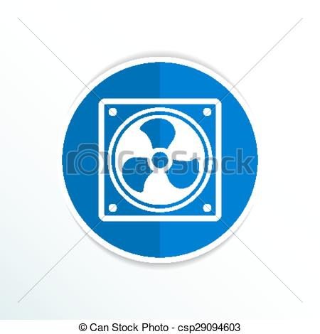 Vector Clipart of fan icon airflow cooling cooler confusing manual.
