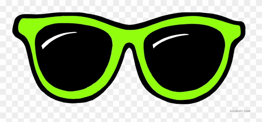 Clipart Black And White Download Sunglass Clipart Neon.